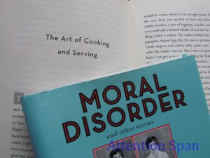part of cover and story in Moral Disorder
