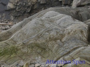 Striations in rock