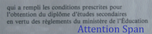 excerpt from french language diploma