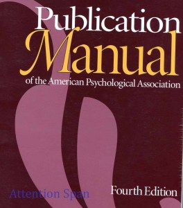 Cover of American Psychological Association's Publication Manual, 4th ed.