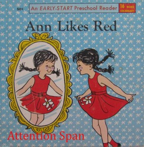 Cover of Ann Likes Red -- an early reader book from 1970