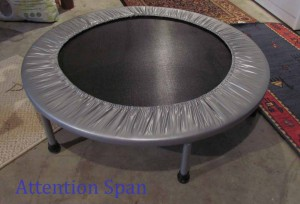 trampoline for indoor exercise