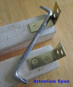 table legs with brass brackets and right angle screwdriver