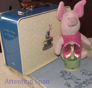 Various Piglet merchandise on A.A. Milne book