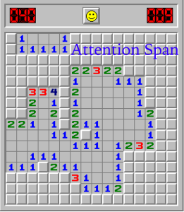 screenshot of minesweeper game in progress