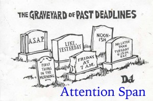 New Yorker Cartoon - tombstones of deadlines