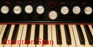 stops and keys of pump organ
