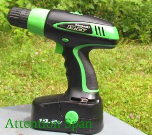battery operated drill on table