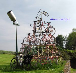 pyramid of bicycles